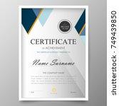 certificate premium template... | Shutterstock .eps vector #749439850
