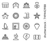 thin line icon set   market ... | Shutterstock .eps vector #749442988