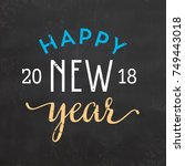 happy new year sign | Shutterstock .eps vector #749443018