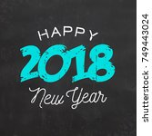 happy new year sign | Shutterstock .eps vector #749443024