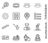 thin line icon set   dollar... | Shutterstock .eps vector #749445844