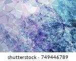 geometric low polygonal... | Shutterstock . vector #749446789