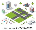 set of town district of the... | Shutterstock .eps vector #749448373