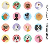 vector seamless background with ... | Shutterstock .eps vector #749449648
