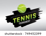 tennis tournament badge design... | Shutterstock .eps vector #749452399