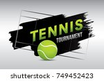 tennis tournament badge design... | Shutterstock .eps vector #749452423