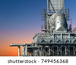 close up oil and gas refinery... | Shutterstock . vector #749456368