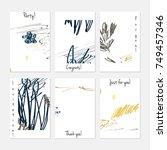 hand drawn creative universal... | Shutterstock .eps vector #749457346
