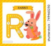letter r uppercase cute... | Shutterstock .eps vector #749460250