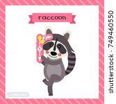 letter r lowercase cute... | Shutterstock .eps vector #749460550