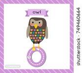letter o lowercase cute... | Shutterstock .eps vector #749460664