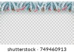 christmas holiday decoration... | Shutterstock .eps vector #749460913