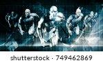high performance business... | Shutterstock . vector #749462869