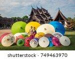 asian woman wearing traditional ...   Shutterstock . vector #749463970