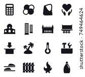 16 vector icon set   calculator ... | Shutterstock .eps vector #749464624
