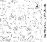 seamless background set of... | Shutterstock .eps vector #749465338