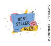 linear banner concept. sale off.... | Shutterstock .eps vector #749466040
