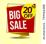 vector big sale discount... | Shutterstock .eps vector #749466388