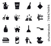 16 vector icon set   cleanser ... | Shutterstock .eps vector #749474494