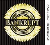 bankrupt gold emblem | Shutterstock .eps vector #749474920