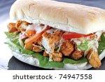 doner kebab with fresh...