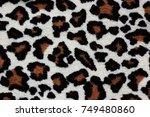 leopard fabric texture   Shutterstock . vector #749480860