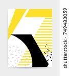 colorful pop art geometric... | Shutterstock .eps vector #749483059