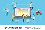 online shopping concept... | Shutterstock .eps vector #749484130