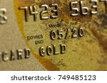 plastic gold card | Shutterstock . vector #749485123