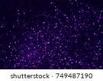 purple glitter texture... | Shutterstock . vector #749487190