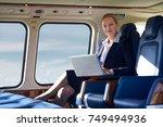 portrait of businesswoman...   Shutterstock . vector #749494936