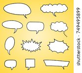 speech bubble vectors   comic... | Shutterstock .eps vector #749495899