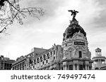 edif cio metropolis   madri ... | Shutterstock . vector #749497474