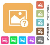 unknown image flat icons on...   Shutterstock .eps vector #749499088