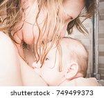 portrait of happy young woman...   Shutterstock . vector #749499373