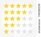 rating rank stars symbols.... | Shutterstock .eps vector #749500150