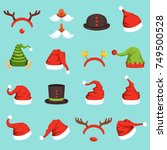 hats of different christmas...