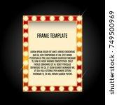 light frame retro shining light ...   Shutterstock .eps vector #749500969