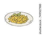 scrambled eggs | Shutterstock .eps vector #749507980