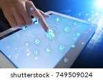 smart industry and automation... | Shutterstock . vector #749509024