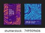 set of modern artistic posters. ... | Shutterstock .eps vector #749509606