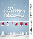 merry christmas and happy new... | Shutterstock .eps vector #749510770