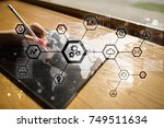 iot  automation  industry 4.0.... | Shutterstock . vector #749511634