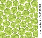 background pattern with green... | Shutterstock .eps vector #749513284