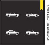 set of raster car icons