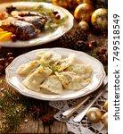 christmas dumplings stuffed... | Shutterstock . vector #749518549