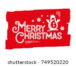 merry christmas vector... | Shutterstock .eps vector #749520220
