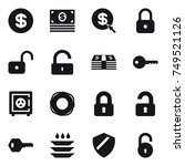16 vector icon set   dollar ... | Shutterstock .eps vector #749521126