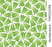 background pattern with lettuce  | Shutterstock .eps vector #749522458