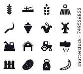 16 vector icon set   soil... | Shutterstock .eps vector #749526823